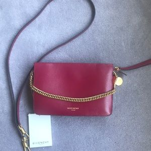 New Authentic Givenchy Cross 3 Bag pink wit red